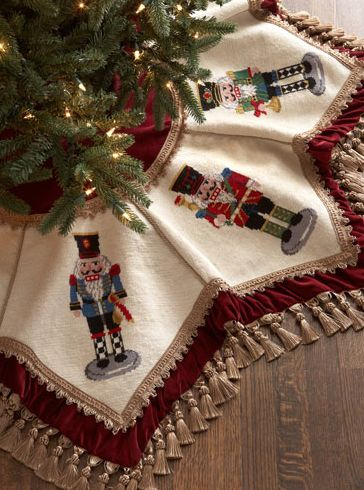 Beautiful Nutcrackers Tasseled Christmas Tree Skirt http://rstyle.me/~3bRwg