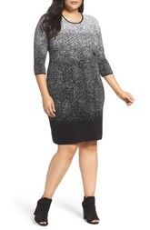 New Vince Camuto Ombr? Jacquard Sweater Dress (Plus Size) online, New offer for Vince Camuto Ombr? Jacquard Sweater Dress (Plus Size) @>>hoodress dress shop<<