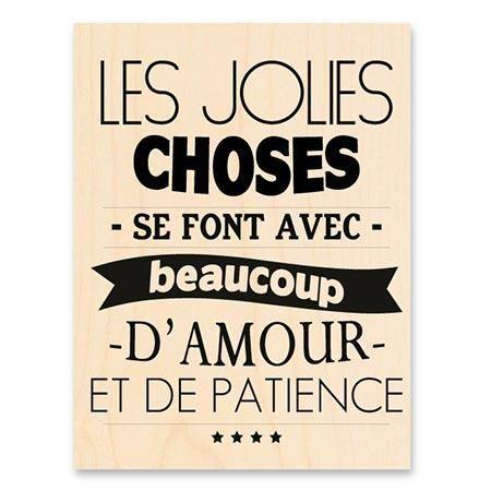 Les jolies choses se font avec beaucoup d'amour et de patience