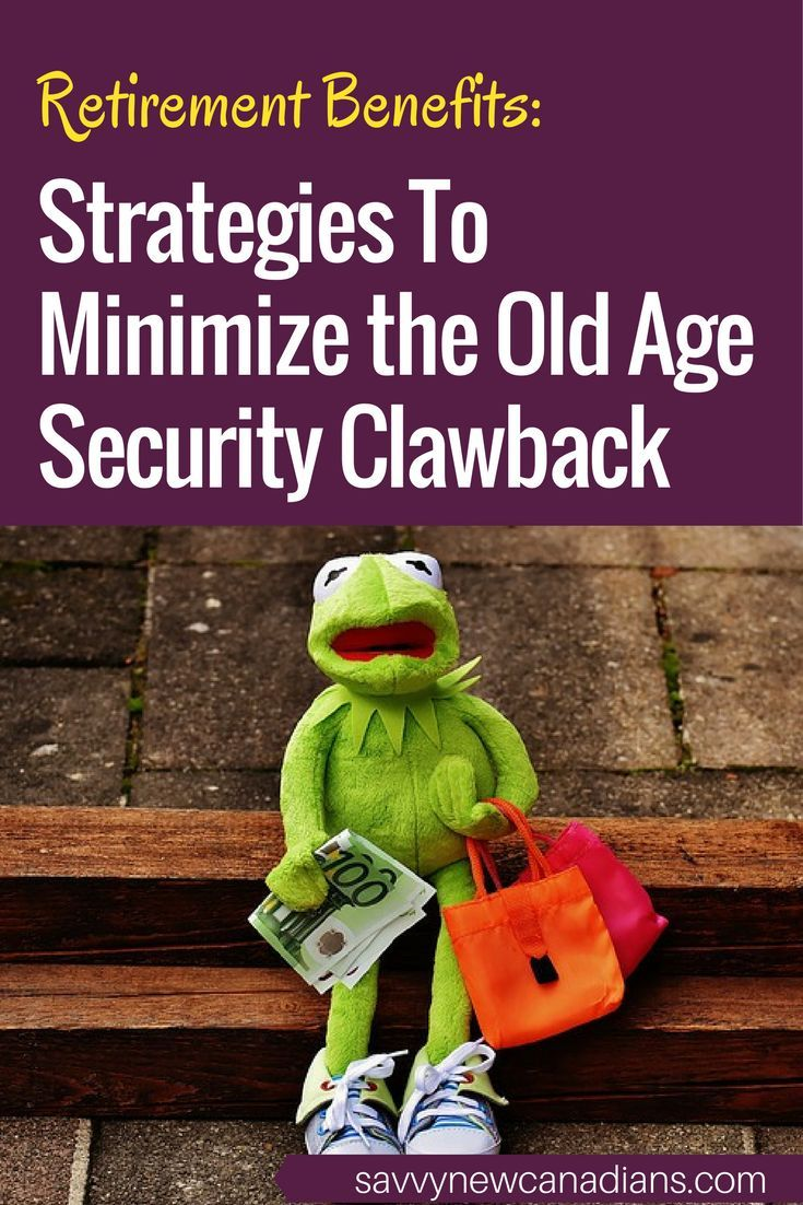 How to minimize the OAS clawback. #OAS #retirement