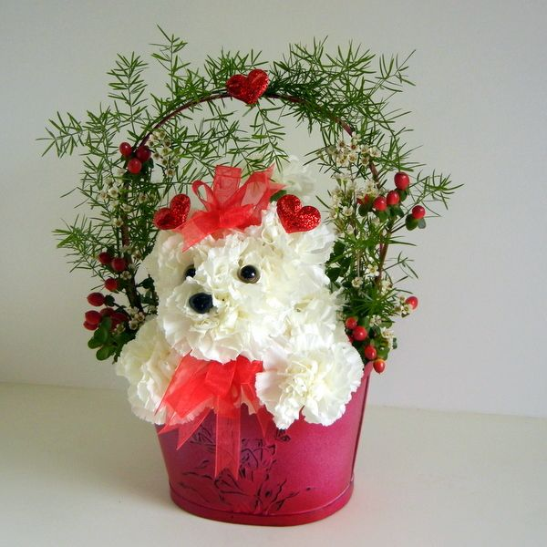 351 best bichon flower arrangements images on pinterest for Flower arrangements valentines day