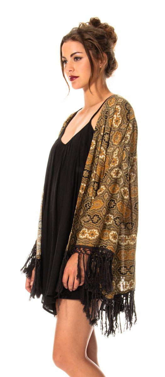 Kimono Over a loose fitting LBD