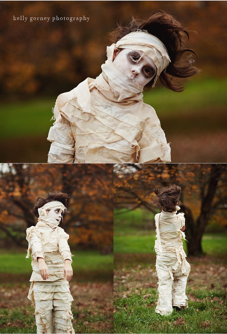 DIY mummy costume. I hope I can talk my kid into this one!