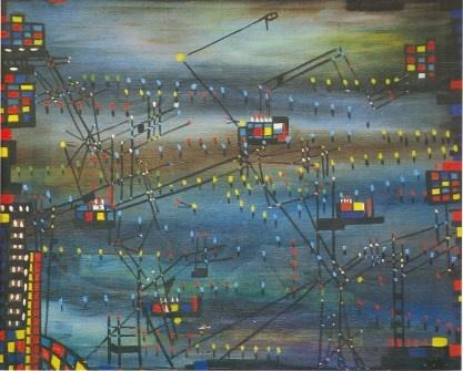 "Zubeida Agha's ""Karachi by Night"" Painted in 1956"