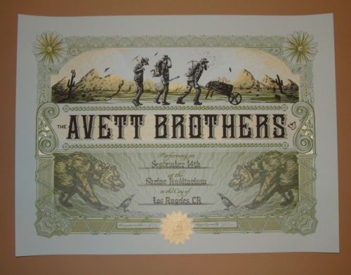 Avett-Brothers-Zeb-Love-Los-Angeles-Poster-Print-Signed-Numbered-Green-Variant