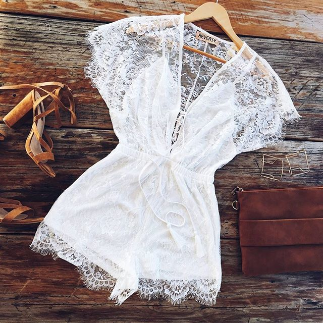 white | lace | detail | playsuit Shop the Outlander Playsuit http://www.muraboutique.com.au/collections/playsuit/products/outlander-playsuit?variant=20749979463 #muraboutique