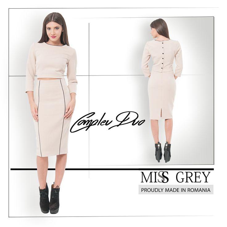 Choose elegance! Wear this awesome two piece skirt! https://missgrey.ro/ro/fuste/fusta-compleu-duo/211?utm_campaign=t2&utm_medium=regular_post&utm_source=pinterest_produs