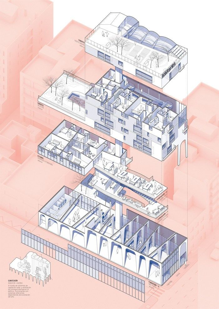 1000 images about exploded axonometric architectural