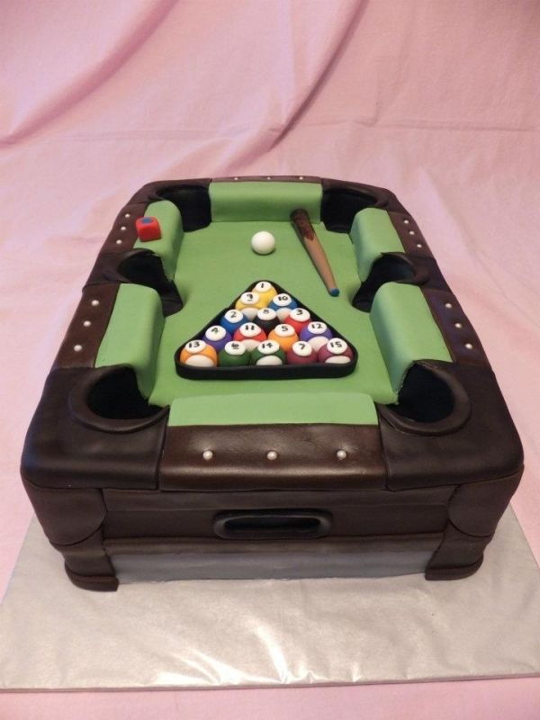 AMAZING pool table cake. User TammyRiley on Cake Central.