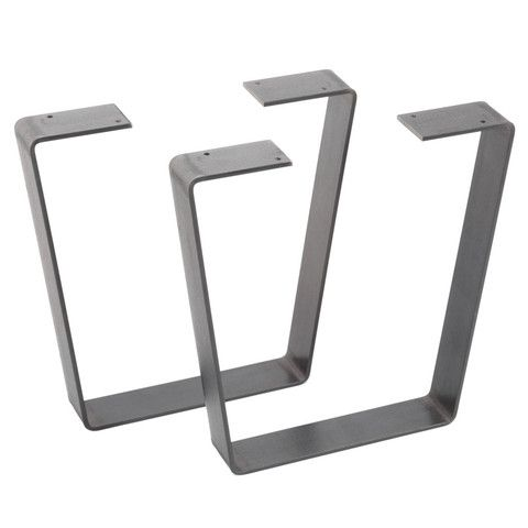 Flat bar metal table legs