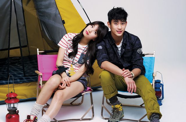 Kim Soo Hyun and Suzy for Bean Pole