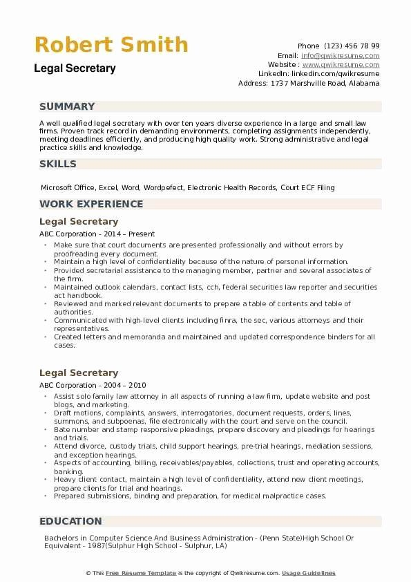 Legal Assistant Job Description Resume Beautiful Legal Secretary Resume Samples In 2020 Resume Examples Sales Resume Examples Business Analyst Resume