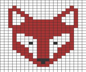 Quadrillage Pixel - Animaux Renard