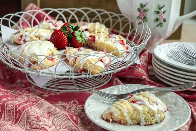 Buttermilk Strawberry Scones Recipe In 2020 Strawberry Scones Scones Strawberry