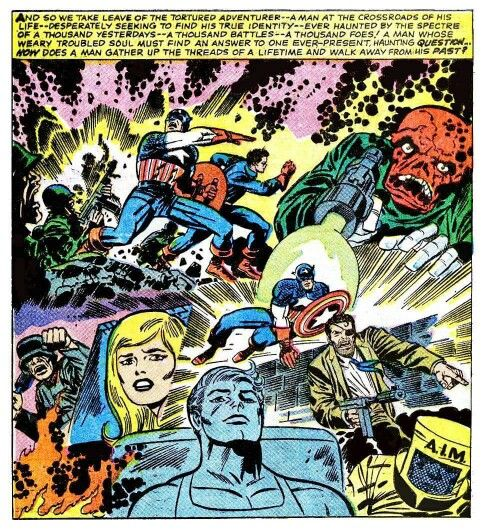 Captain America montage by Jack Kirby