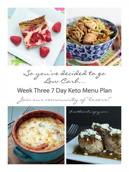 Week three 7 day keto menu plan and shopping lists from ibreatheimhungry.com