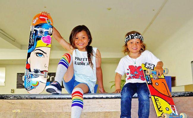 Agés de 8 et 5 ans, Sky et Ocean sont les skateurs les plus fun et surtout les plus jeunes que tu puisses rencontrer au skatepark - Beachbrother Magazine