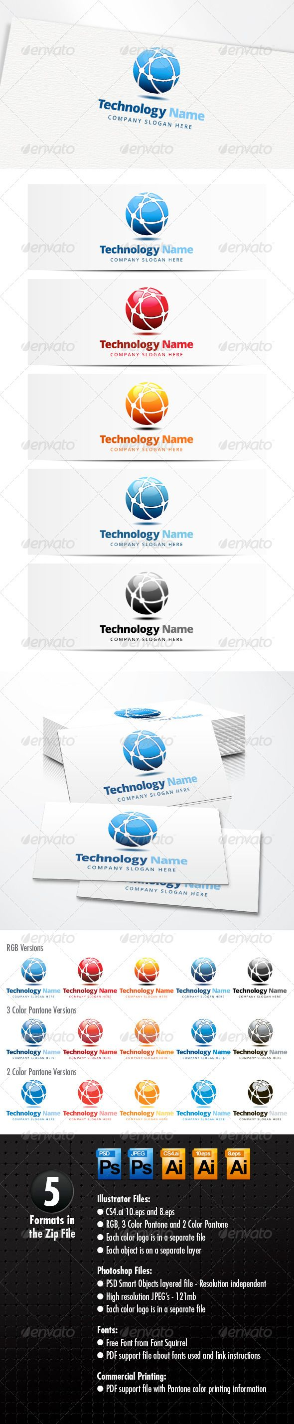 Technology Logo #GraphicRiver Technology Network Logo A modern logo template suitable for internet, technology, communication, companies and software …