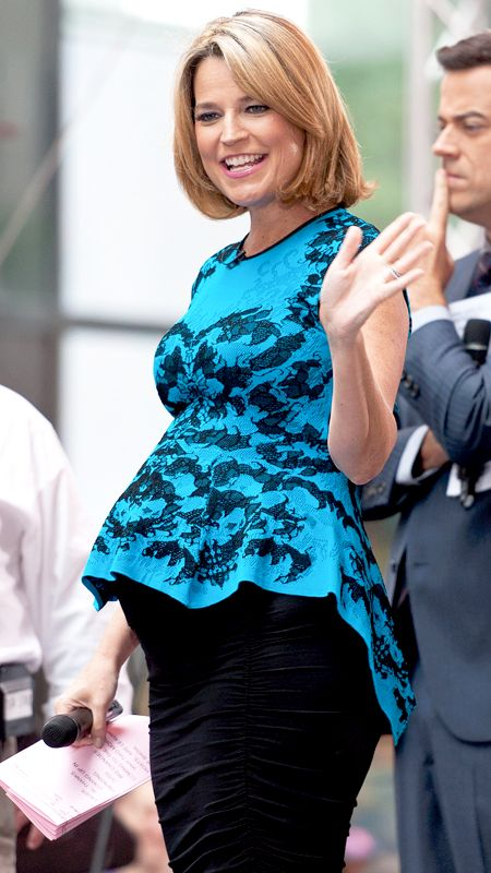 Chic Celebrity Maternity Style - Savannah Guthrie, June 2014 from #InStyle