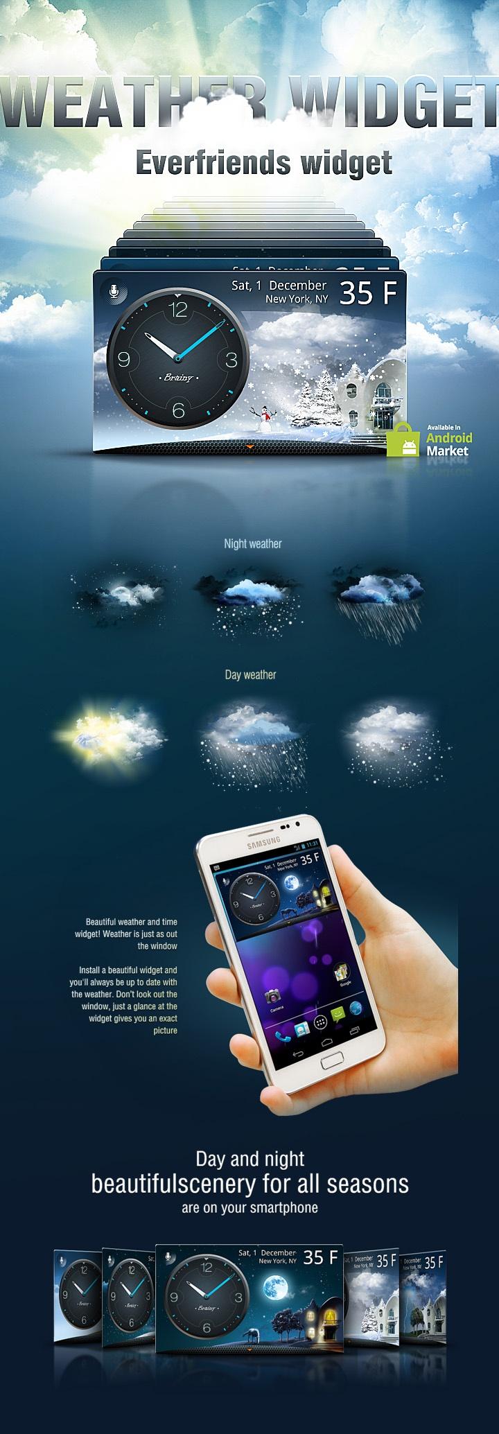 Everfriends widget by ad lopez, via Behance