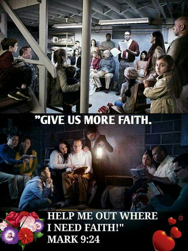 Give us more faith.
