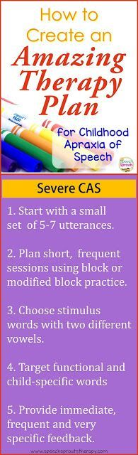 Create an Amazing Therapy Plan for Severe CAS http://www.speechsproutstherapy.com