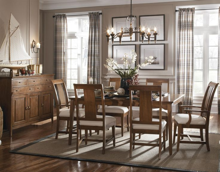 Cherry Park 5 Piece Rectangular Leg Table   Slat Back Chair Set by Kincaid  Furniture at Johnny Janosik55 best Dining Room images on Pinterest   Dining room furniture  . Kincaid Stonewater Tall Dining Table. Home Design Ideas