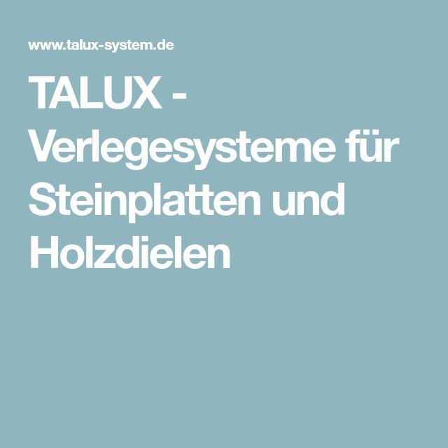 TALUX - Verlegesysteme für Steinplatten und Holzdielen