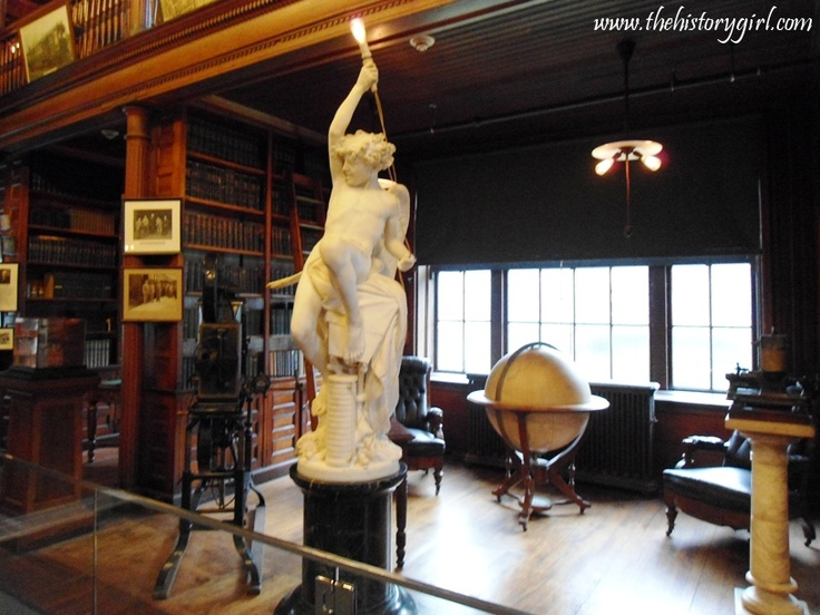 A view of Thomas Edison's personal library at his West Orange, NJ laboratory. Discover