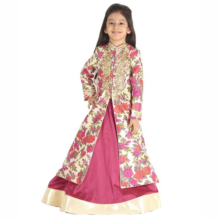A fully covered jacket in rich raw silk teamed with a jeweled ruby #lehanga is perfect for those cold winter weddings. Gat Flat 20% off on your first order. #information #buy #free #online #shopping #shipping #discount