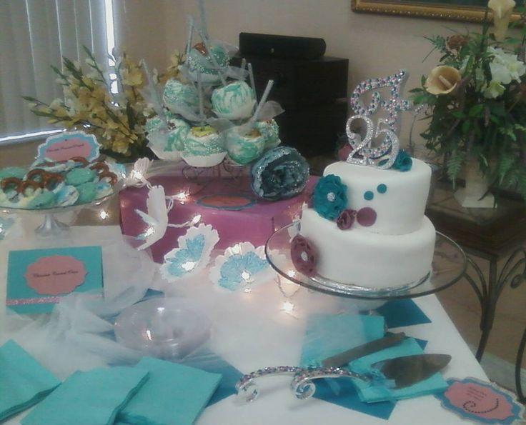 Dessert table for th wedding anniversary love the idea