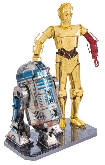 3D kovové puzzle METAL EARTH Star Wars: R2D2 a C-3PO (deluxe set)