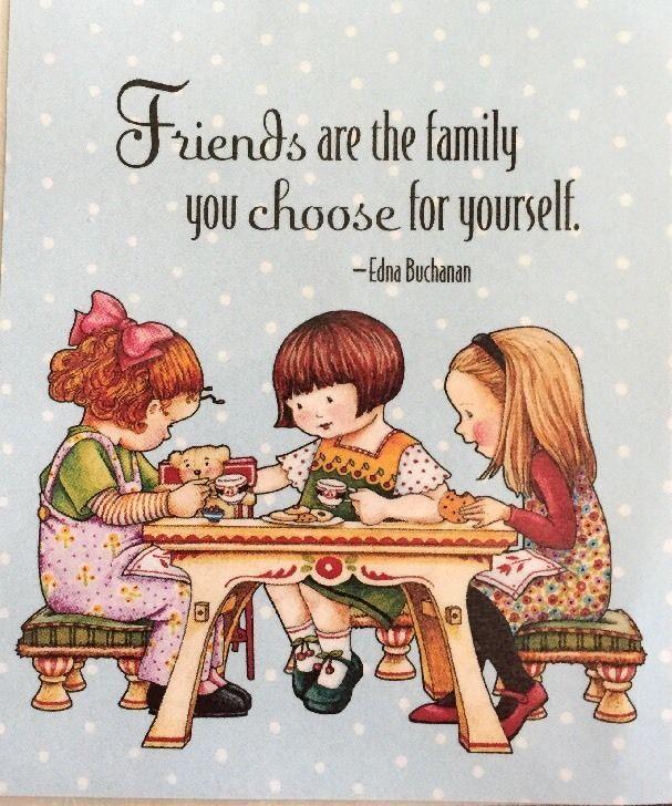 Friends Are The Family-Handmade Fridge Magnet-ME Artwork
