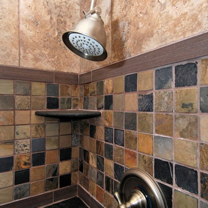 Slate Shower Tiles Design, Pictures, Remodel, Decor and Ideas - page 2
