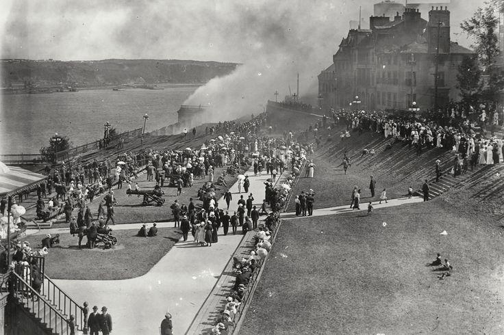 La terrasse Dufferin en 1914