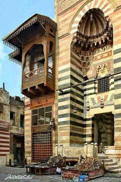 """Egyptian architecture is so different from what we see in America. I would love to see what the inside of this looks like. According to the site, this was used in the background when they shot """"The Mummy."""""""