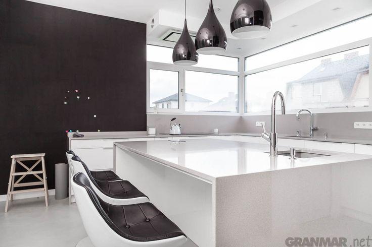 #Kitchen #island from Amiata #quartz #Warsaw