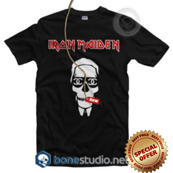 Chanel Iron Maiden Style T Shirt XS,S,M,L,XL,2XL,3XL Unisex for men and women Welcome to Bonestudio, home of the funniest and popular tee's online. Chanel Iron Maiden Style T Shirt is your new tee will be a great gift for him or her. I use only quality shirts such as Fruit of the Loom and gildan. The process used to make the shirt is the latest in ink to garment technology which is also eco-friendly.