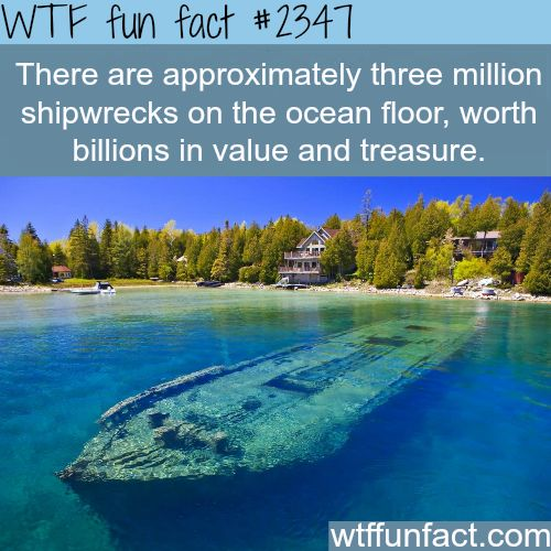 shipwrecks and treasures -WTF funfacts