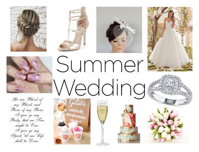 """""""Summer Wedding"""" by gothicvamperstein on Polyvore featuring Allurez, Carvela and summerwedding"""