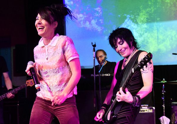 Joan Jett Photos - Kathleen Hanna and Joan Jett perform at the Celebration Of Music And Film during 2018 Sundance Film Festival at The Shop on January 20, 2018 in Park City, Utah. - 2018 Sundance Film Festival - Celebration of Music and Film