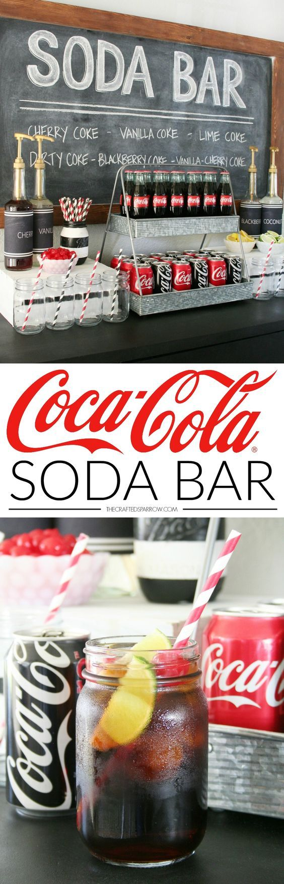 What a fun party idea - an old fashioned soda bar!