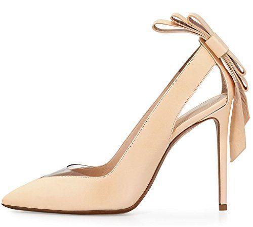 Guoar High Heels Damenschuhe Große Größe Spitze Zehen Hohl Slip-on Stiletto Pumps mit Bowknot Party Hochzeit - http://on-line-kaufen.de/guoar/guoar-high-heels-damenschuhe-grosse-groesse-hohl-2