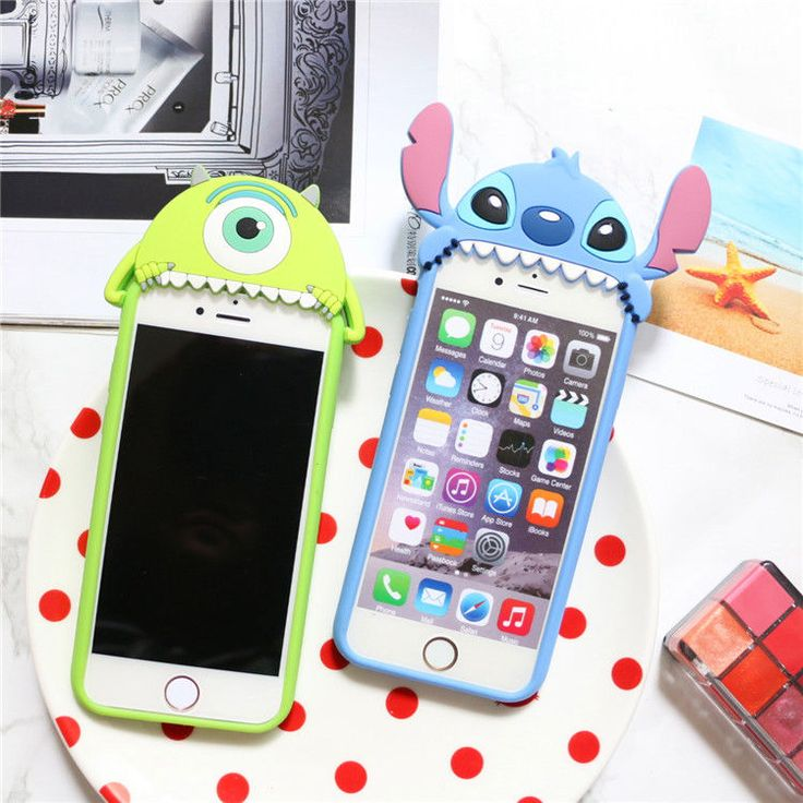 3D Cute Disney Stitch Mike Soft Rubber Silicone Case Cover for iPhone 6 6S Plus | eBay