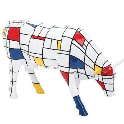 En association avec la Cow Parade, Arteum propose d'acquérir une statuette de vache, habillé du style Mondrian. Un code graphique, qui met en valeur la musculature de la bête dans un jeu de volumes.