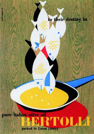 Erberto Carboni, Olio Bertolli Litografia, 1953. #repetition #symmetrical
