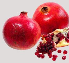 Fights Breast Cancer.pomergranates have the potential to inhibit the growth of breast cancer. It may prevent and slow Alzheimer's disease. Pomegranates as a sure way to cure diarrhea. Pomegranate fruit and juice are healthy ways for you to get vitamins during pregnancy.  The pomegranate fruit is efficient in case of anemia. It helps to increase the hemoglobin content in the blood, as it is rich in iron content. The pomegranate fruit is considered to be a laxative and used for constipation.