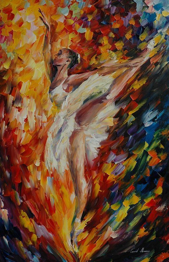 ✯ Ballerina Painting .. Artist Leonid Afremov✯