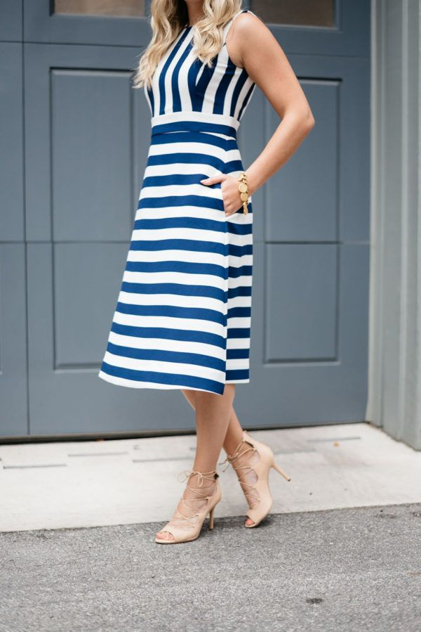 Spring/Summer Staple: Striped Dresses | bows & sequins