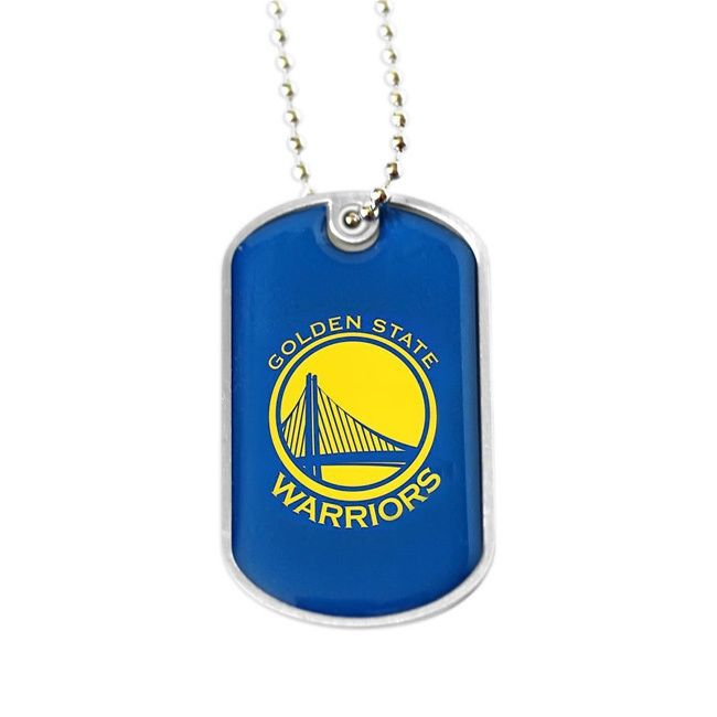 Aminco NBA Golden State Warriors Dog Tag Necklace Charm Gift Set